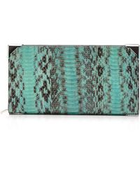 Alexander Wang Peppermint Elaphe Prisma Skeletal Biker Wallet with Rhodium Hardware - Lyst