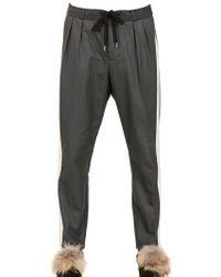Andrea Pompilio | Cotton Flannel Trousers | Lyst