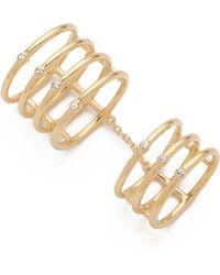 Elizabeth and James - Berlin Topaz Knuckle Ring Gold - Lyst