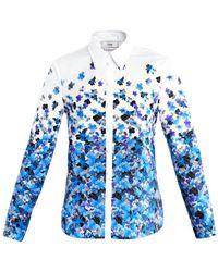 Erdem Cecilia Kabuki Sky Degrade-Print Shirt - Lyst