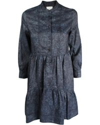 Band Of Outsiders Blue Day Dress - Lyst