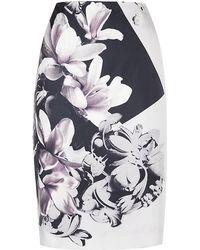 Paul Smith Black Label - Silk Pencil Skirt - Lyst