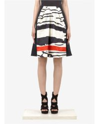 Preen By Thornton Bregazzi Printed Panel Skirt - Lyst
