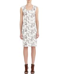 Rachel Roy - White Skull Bird Abstract Painted Print Dress - Lyst