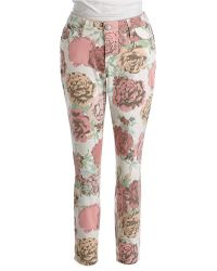 Vintage America - Matchstick Printed Skinny Ankle Jeans - Lyst