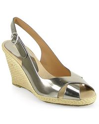 Andre Assous   Milan Mirror Slingback Espadrille in Pewter   Lyst