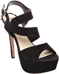 Betsey Johnson Endall Suede Highheel Sandals - Lyst