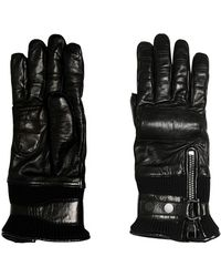 Ferragamo - Cashmere Lined Nappa Leather Gloves - Lyst