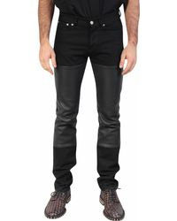 Givenchy Jeans Denim and Leather - Lyst