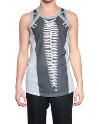 Givenchy Top Printed Cotton gray - Lyst