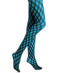 Hue Layered Net Tights - Lyst