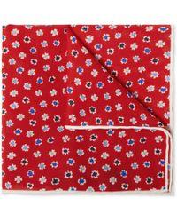 J.Crew | Floral Print Cotton Pocket Square | Lyst