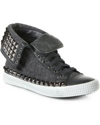 Jimmy Choo Spencer Studded High-top Sneakers - Lyst