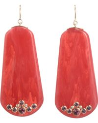 Mark Davis  Bakelite Diamond Amethyst Earrings - Lyst