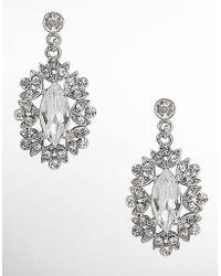 Nina - Celia Crystal Cluster Necklace - Lyst