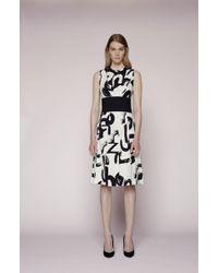 Proenza Schouler Paneled Text Print Dress - Lyst