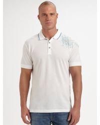 Robert Graham Embroidered Polo Shirt - Lyst