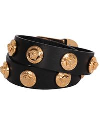 Versace Medusa Bracelet Leather - Lyst