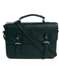 Asos Satchel Bag with Metal Buckles - Lyst