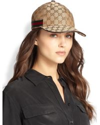 Gucci Logo Baseball Hat - Lyst