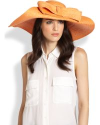 Helene Berman Floppy Bow Straw Hat - Lyst