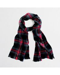 J.Crew Factory Plaid Scarf - Lyst