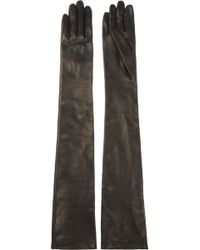Lanvin - Long Leather Gloves - Lyst