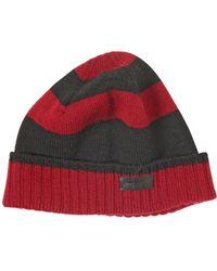 Saint Laurent - Striped Wool Knit Hat - Lyst f8be5e96081d