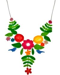 Tatty Devine - Mexican Embroidery Necklace - Lyst