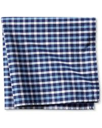 Banana Republic Gingham Cotton Pocket Square blue - Lyst