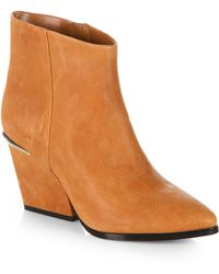 Boutique 9 - Isoke Leather Western Ankle Boots - Lyst