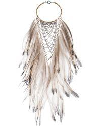 Clemmie Watson - Emu Feather Bib Necklace - Lyst