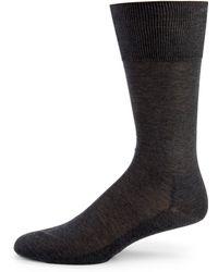 Falke Solid Cotton Knit Socks - Lyst