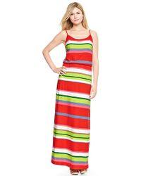 Gap Printed Cami Maxi Dress - Lyst