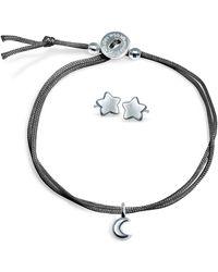 Alex Woo - Mini Addition Moon Bracelet with Star Earrings Set - Lyst