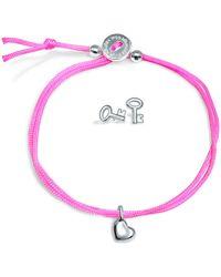 Alex Woo - Mini Addition Heart Bracelet with Key Earrings Set - Lyst