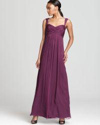 Amsale - Dress Sleeveless Criss Cross - Lyst
