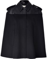 Burberry Wool Cashmere Wilmington Cape in Black - Lyst