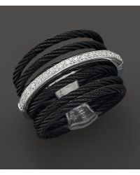 Charriol - Celtic Noir Collection Nautical Cable Ring, .09 Ct. T.W. - Lyst