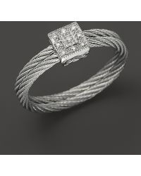Charriol - Classique Collection Nautical Cable Ring, .04 Ct. T.W. - Lyst