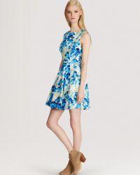 Karen Millen Print Dress Iris - Lyst
