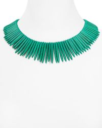 Kenneth Jay Lane Spiked Resin Necklace - Lyst