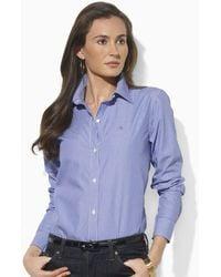 Ralph Lauren Lauren Aaron Long Sleeve Classic Non-Iron Shirt - Lyst