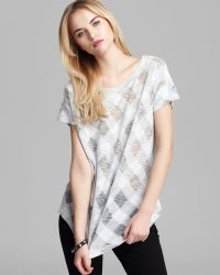 Marc By Marc Jacobs Top Gauze Check Knit - Lyst