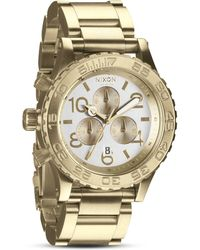 Nixon The 4220 Chrono Watch in Champagne Gold 42mm - Lyst