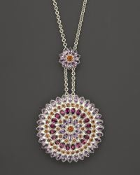 Paul Morelli | Large Applique Slider Pendant with Rhodolite Amethyst and Madeira Citrine 24 | Lyst