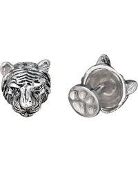 Robin Rotenier - Rotenier Sterling Silver Antiqued Tiger Cufflinks - Lyst