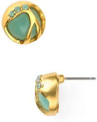 T Tahari - Stone Stud Earrings - Lyst