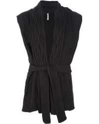 Aimo Richly - Sleeveless Knitted Cardigan - Lyst