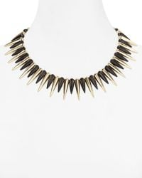 Cara Accessories Black Spike Necklace 14 gold - Lyst